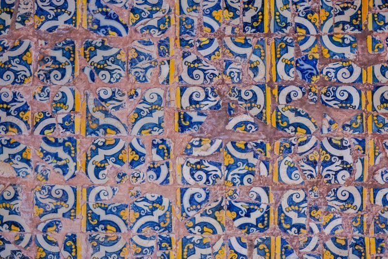 Azulejos mozaïken in Panjim en Oud Goa, India