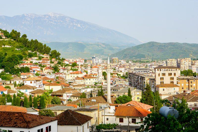 Centrum van Berat, Albanië