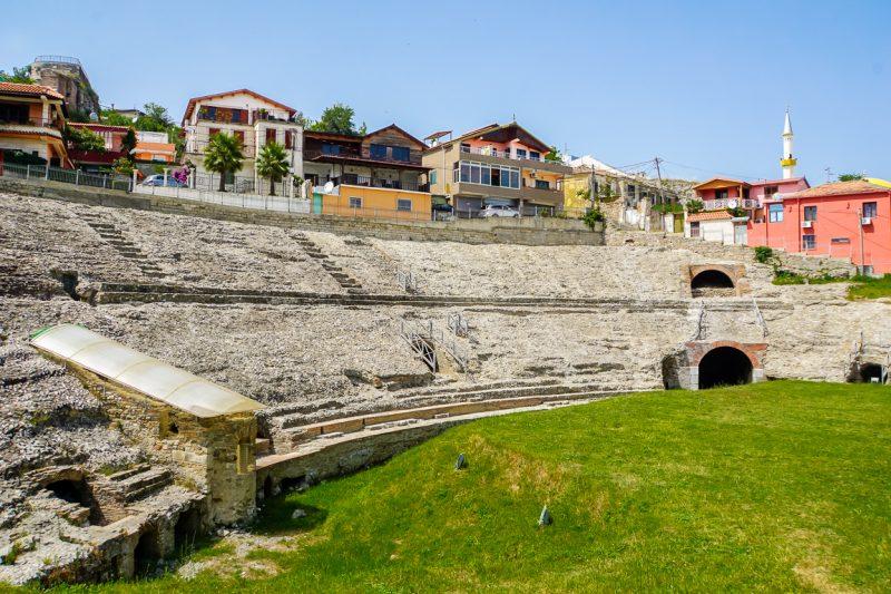 Het amfitheater van Dürres in Albanië