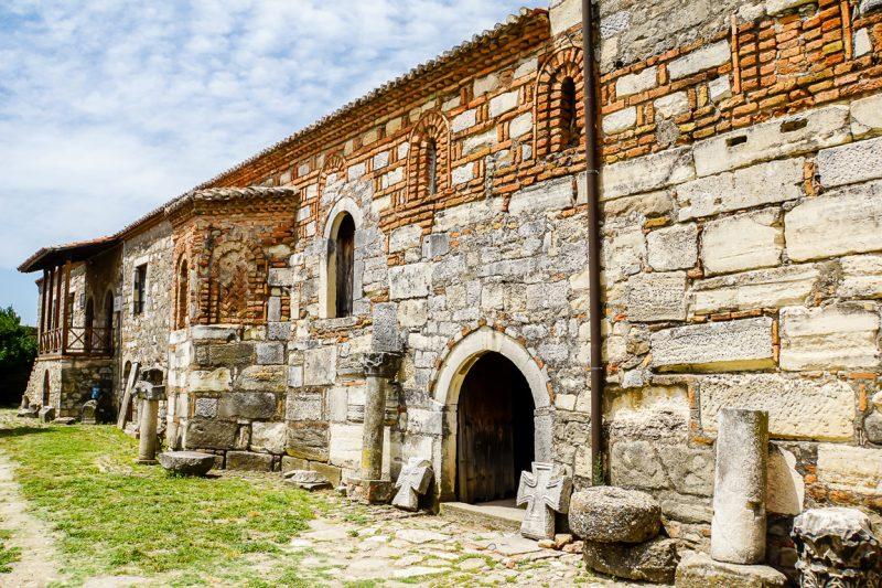 Klooster bij Apollonia nabij Fieri in Albanië