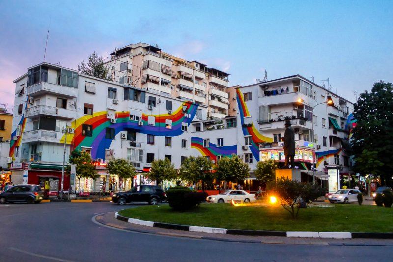 Rotonde in Tirana, Albanië