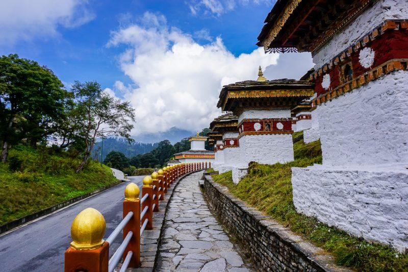 De 108 stupas van de Druk Wangyal Khang Zhang Chortens, Bhutan