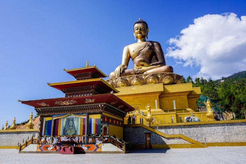 De gouden boedha van Kuensel Phodrang, Bhutan