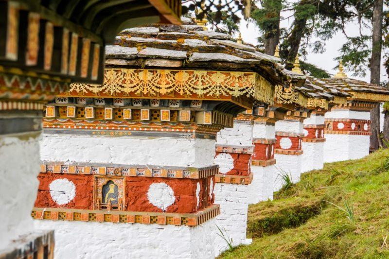 Druk Wangyal Khang Zhang Chortens op de Dochula bergpas, Bhutan