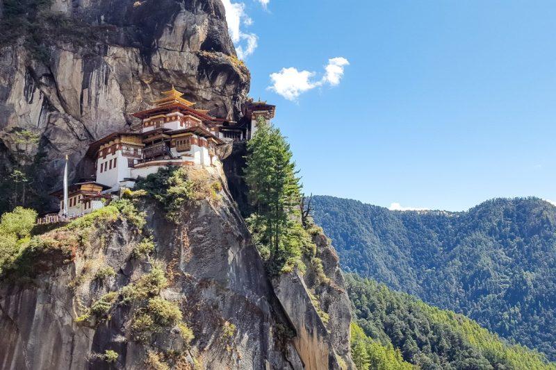 Het imposante Tiger's Nest in Bhutan