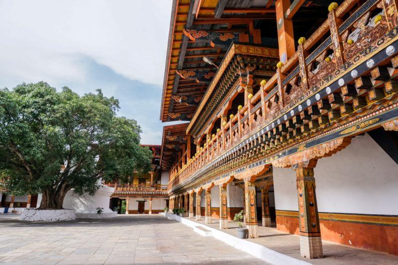 Het oude Punakha Dzong in Bhutan