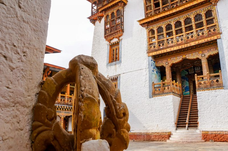 Mystieke sferen in de Punakha Dzong, Bhutan