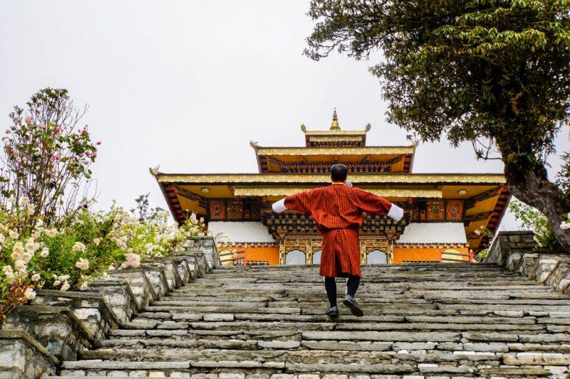 Trappen naar de Druk Wangyal Lhakhang, Bhutan