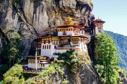 Uitzicht op Tiger's Nest, Bhutan