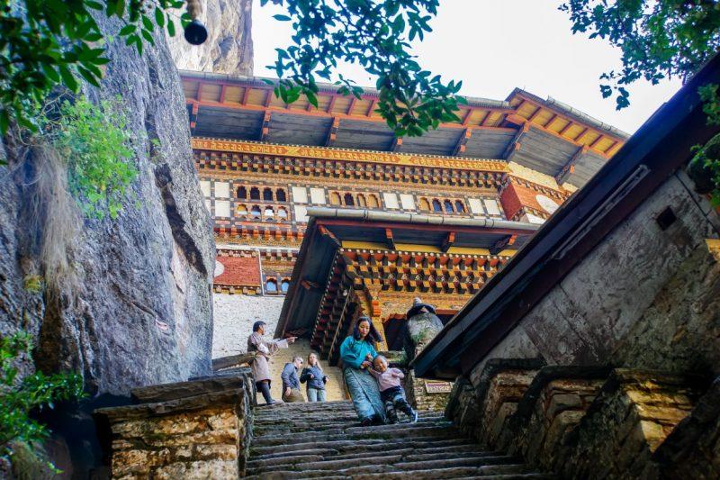 De laatste trappen naar het Tiger's Nest, Bhutan