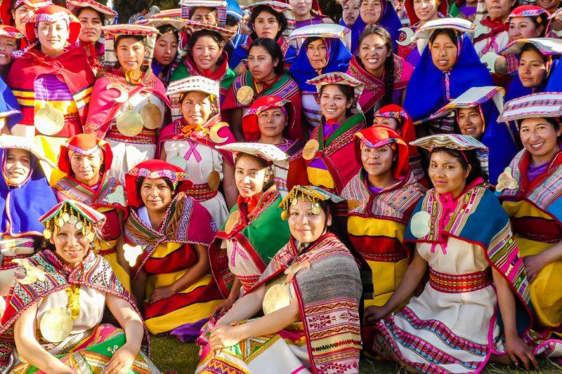 Acteurs van show Inti Raymi in Cuzco, Peru