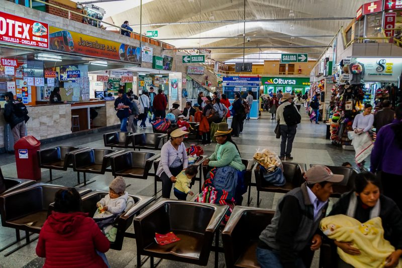 Busstation Arequipa, Peru