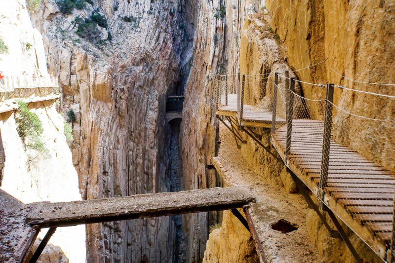 Caminito del Rey - oude en nieuwe route
