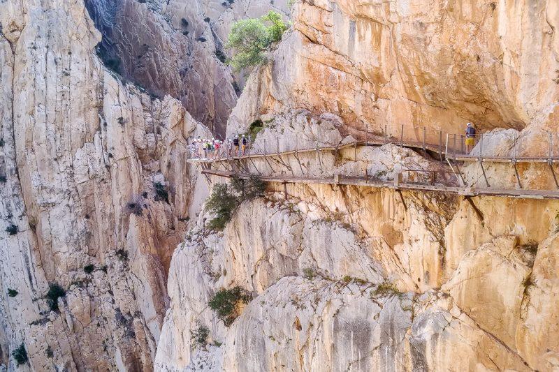 Caminito del Rey - pad langs rotswanden