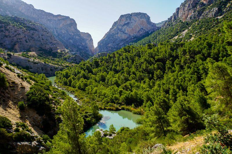 Caminito del Rey - uitzicht en route