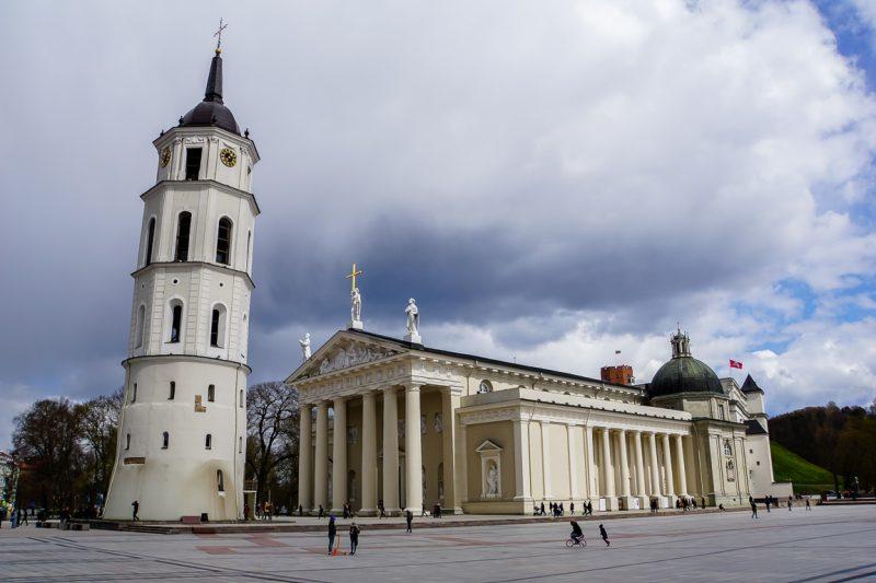 De Cathedral Square in Vilnius, Litouwen