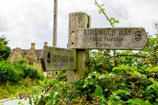 De Cotswold Way in de Cotswolds, Engeland