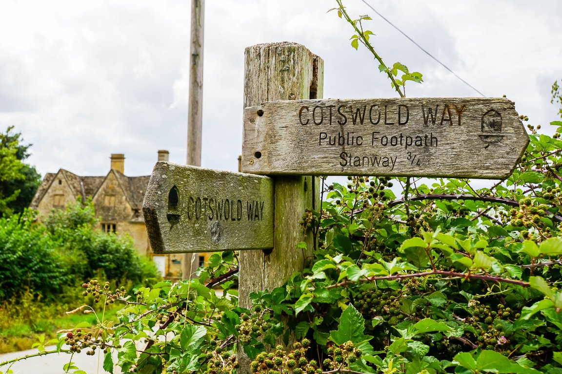 De Cotswold Way in de Cotswolds, Engeland