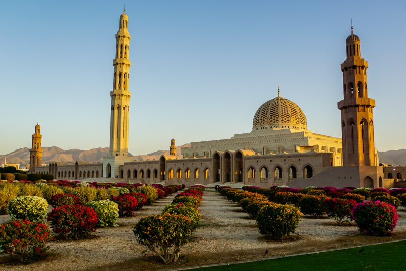 De Sultan Qaboos Grand Mosque in Muscat, Oman