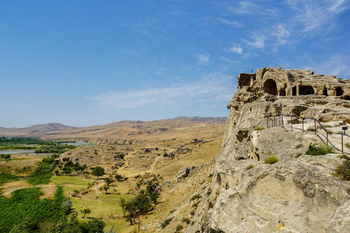 De grotten van Uplistsikhe nabij Gori in Georgië