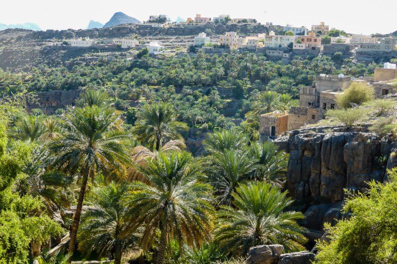De omgeving van het dorpje Misfat al Abriyyin in Oman