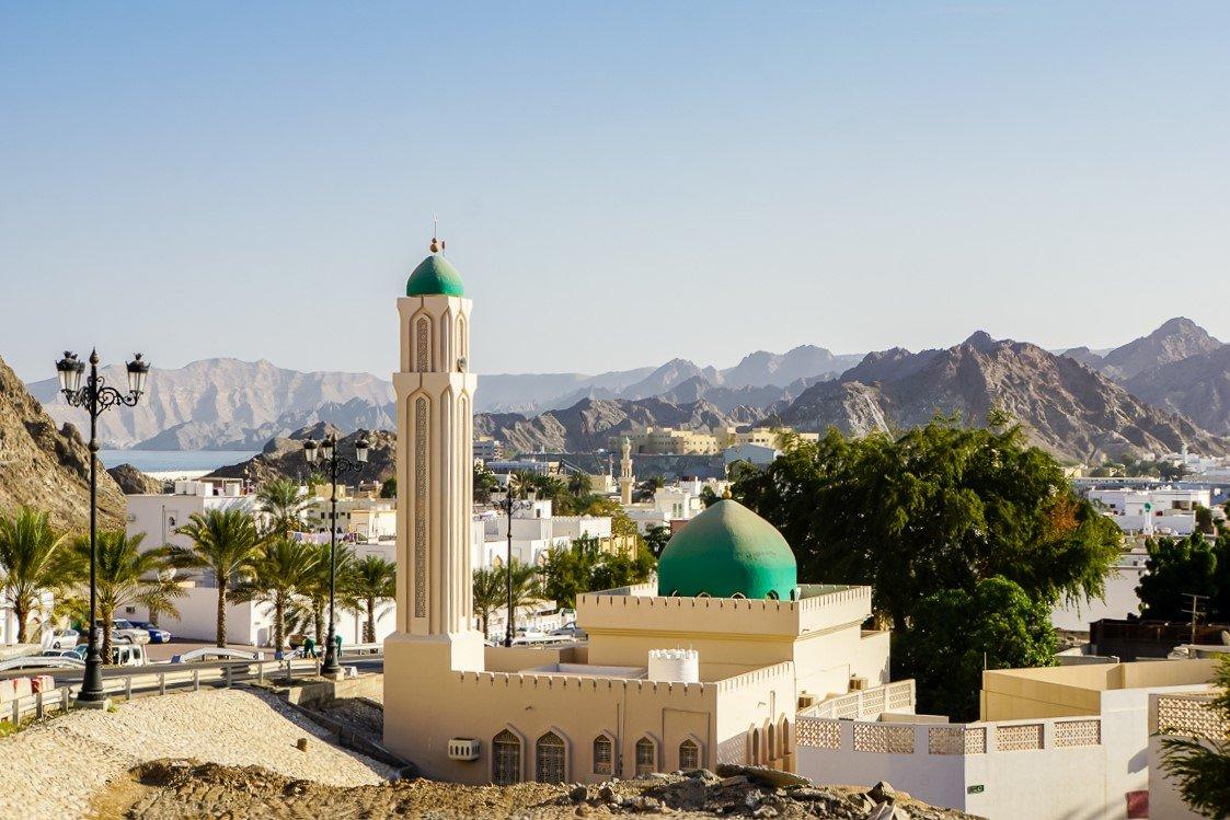 Een moskee in Muscat, Oman