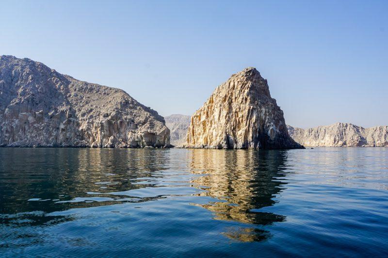 Fjorden in Musandam, Oman
