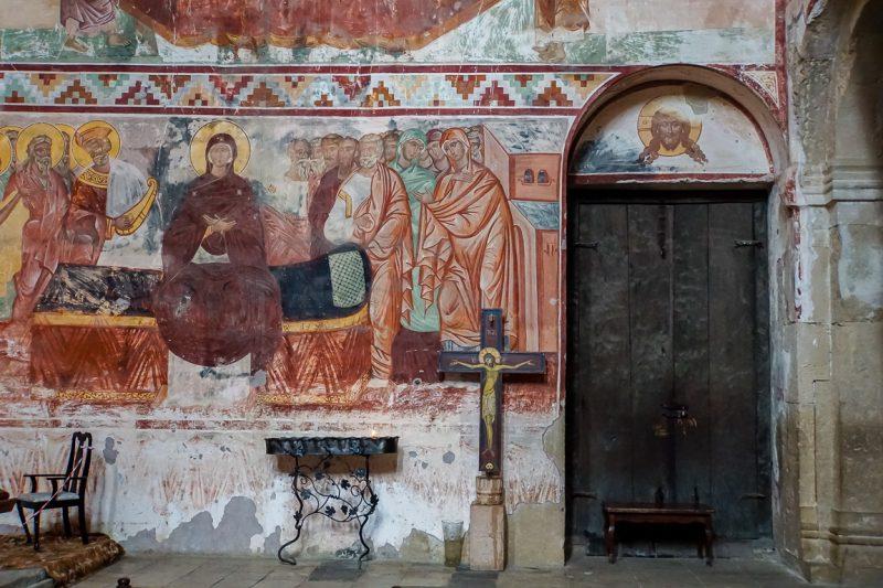 Fresco's in het Gelati klooster, Georgië