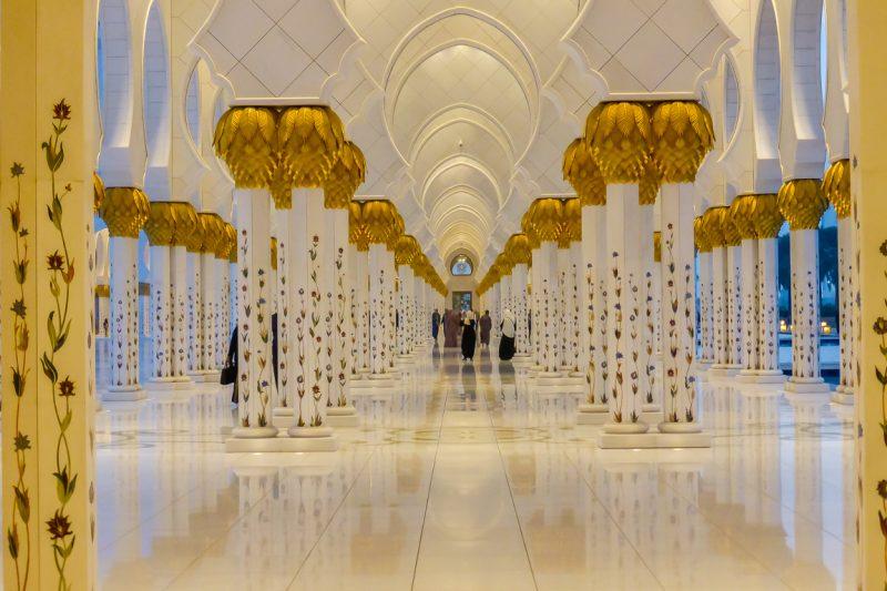 Galerij van de Zayed Grand Mosque in Abu Dhabi, VAE