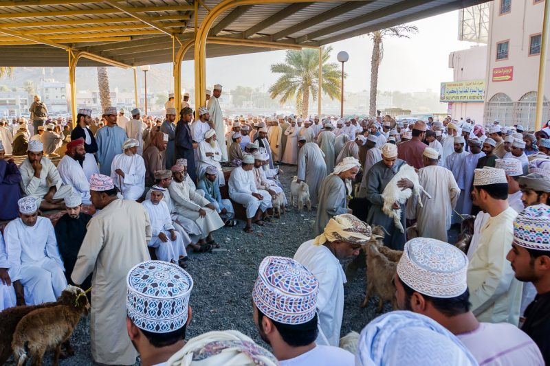 Geitenmarkt van Nizwa in Oman-1