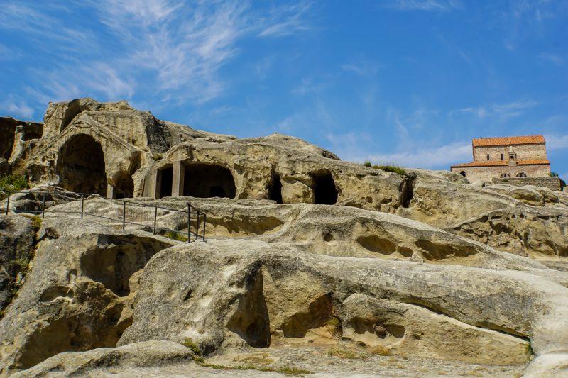 Grotten van Uplistsikhe nabij Gori in Georgië