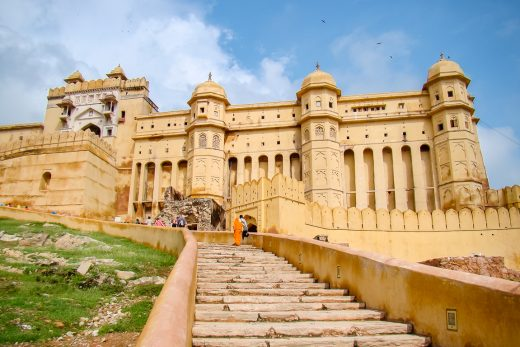 Het Amber Fort in Jaipur, India