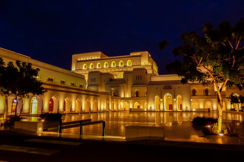 Het Royal Opera House in Muscat, Oman