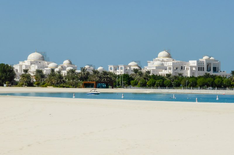 Het UAE Presidential Palace in Abi Dhabi, VAE