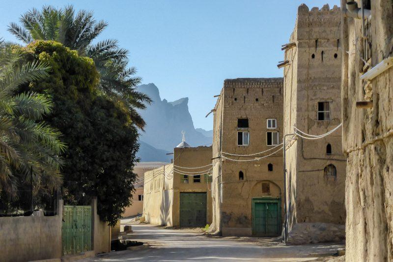 Het verlaten dorpje Al Hamra in Oman