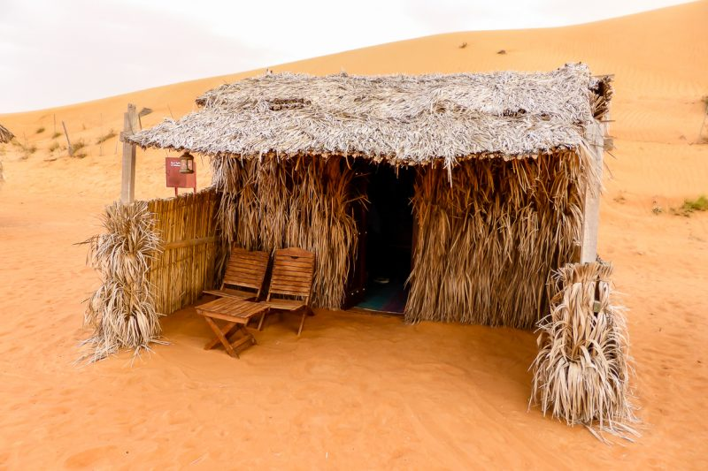 Hutje in Nomadic Desert Camp in Wahibi Sands, Oman