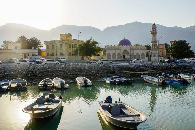 Moskee in Khasab in Musandam, Oman
