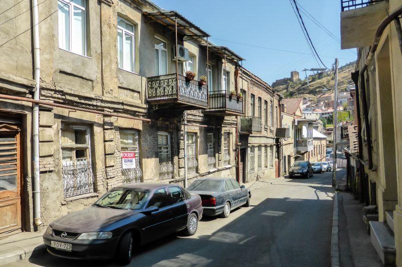 Oude wijken in Tbilisi, Georgië
