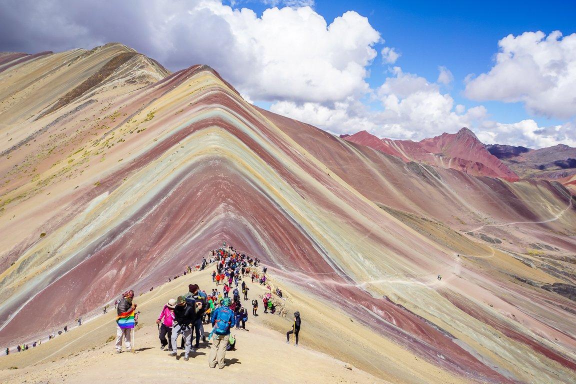 Rainbow Mountain Apu Vinicunca nabij Cuzco in Peru