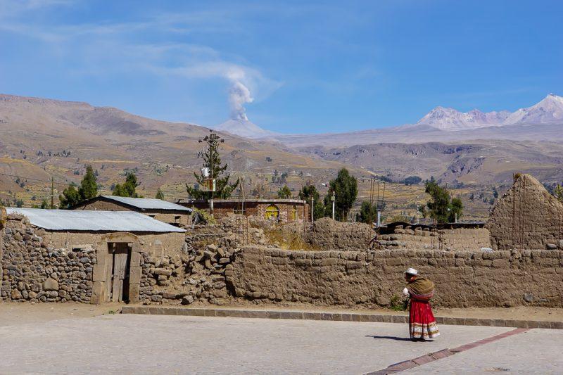 Route van Arequipa naar Colca Canyon, Peru