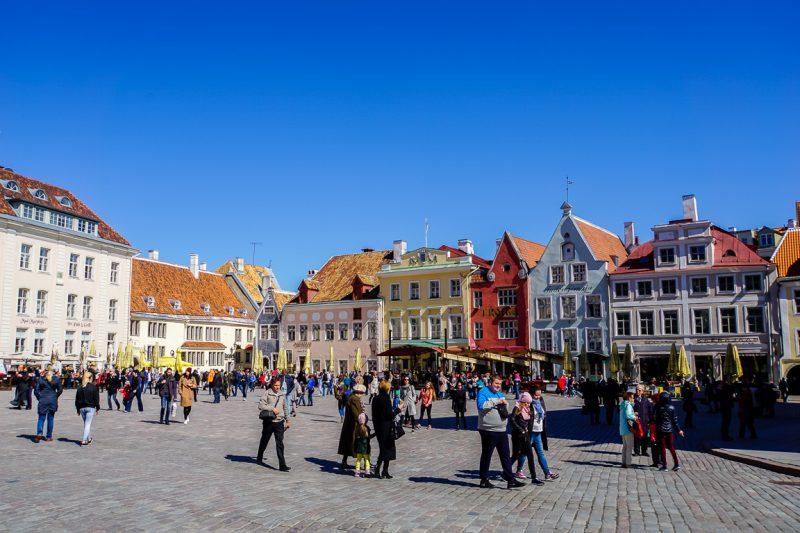 Stadhuisplein in Tallinn, Estland