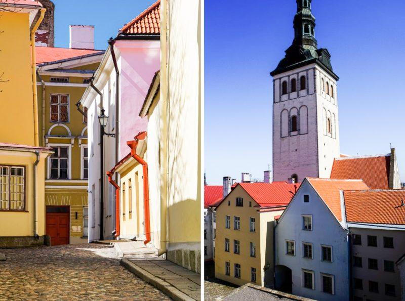 Straatje in Tallinn en Three Sisters, Estland
