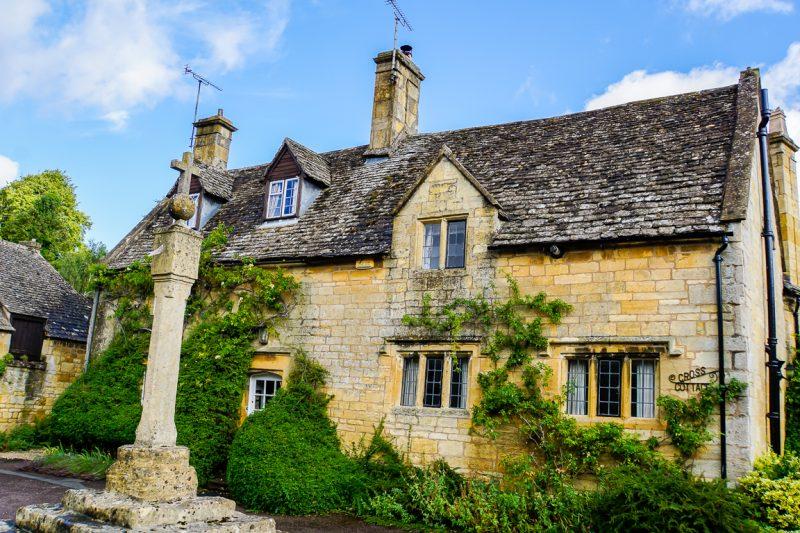 Typisch huis in de Cotswolds, Engeland