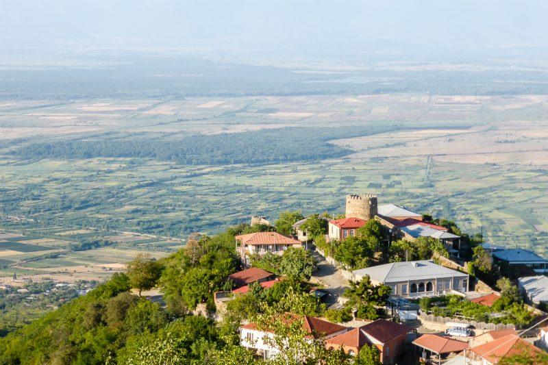 Uitzicht op Sighnaghi in Kakheti, Georgië