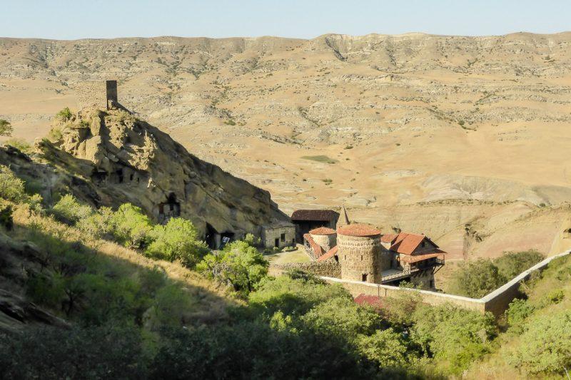 Uitzicht op klooster David Gareja, Georgië