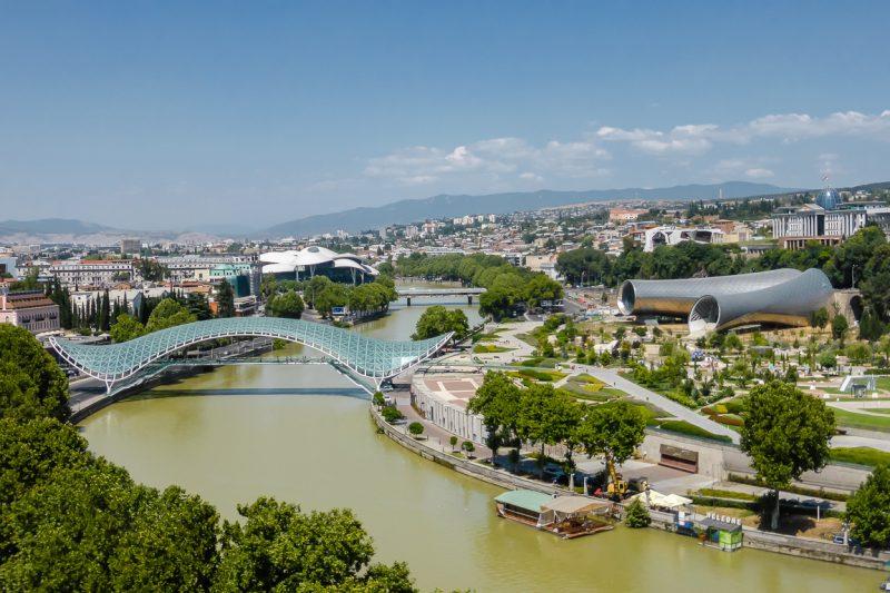 Uitzicht over Tbilisi in Georgië