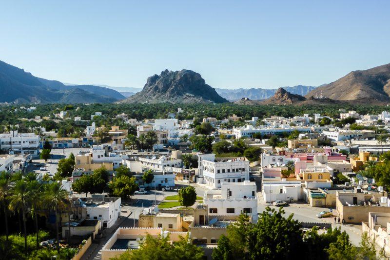 Uitzicht vanaf het fort van Rustaq in Oman