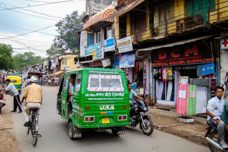 Verkeer in Agra, India