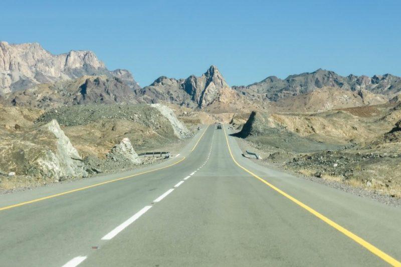 Wegen en bergen in Oman