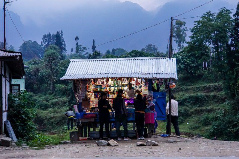 Winkeltje in Yuksom in Sikkim, India